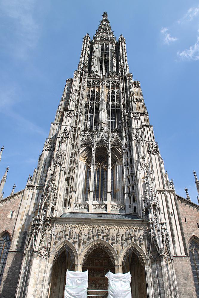 Ulmer Münster Der 16153 M Hohe Turm Ist Der Höchste Kirchturm Der