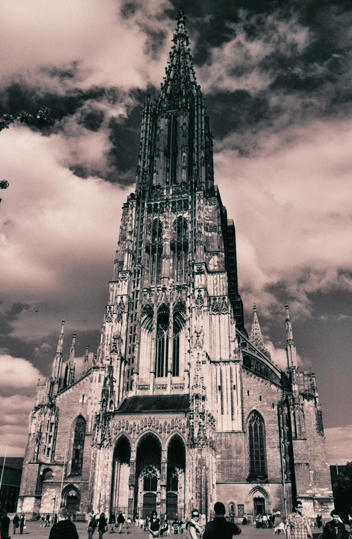 Ulmer Münster wie aus den 60er