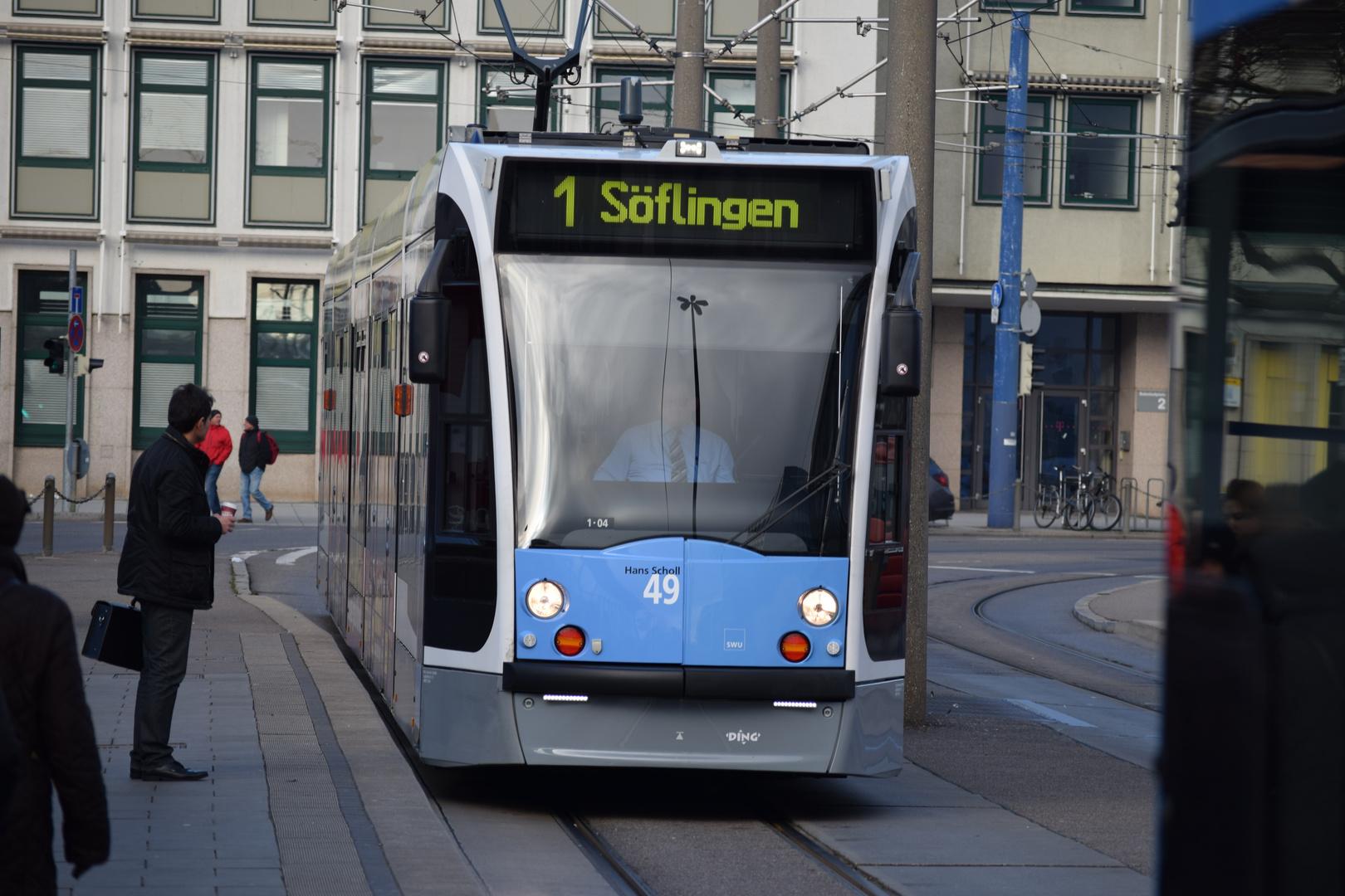 Ulmer Straßenbahn Wagen 49 Hans Scholl 01 Foto Bild Bus