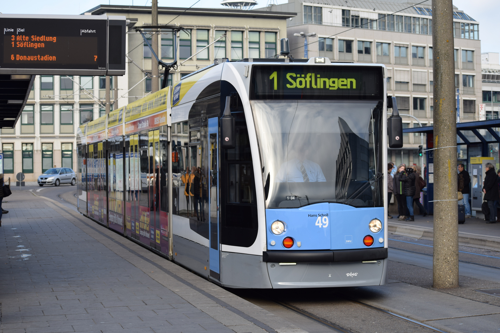 Ulmer Straßenbahn Wagen 49 Hans Scholl 02 Foto Bild Bus