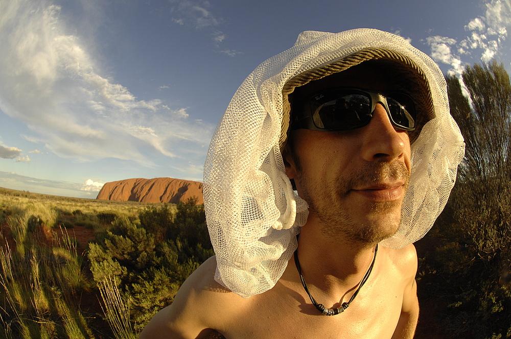 Uluru as background