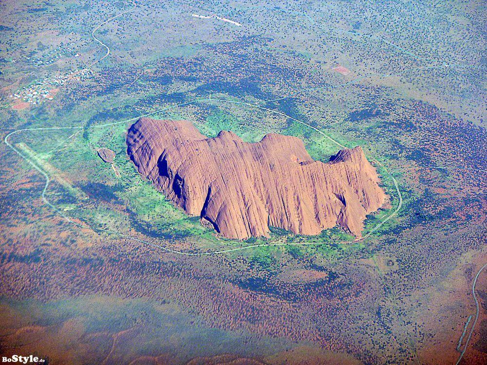 Uluru aus´m Flieger