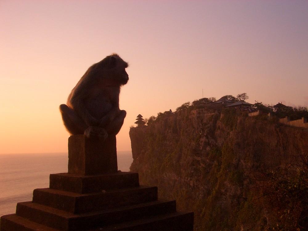 Uluwatu bei Sonnenuntergang