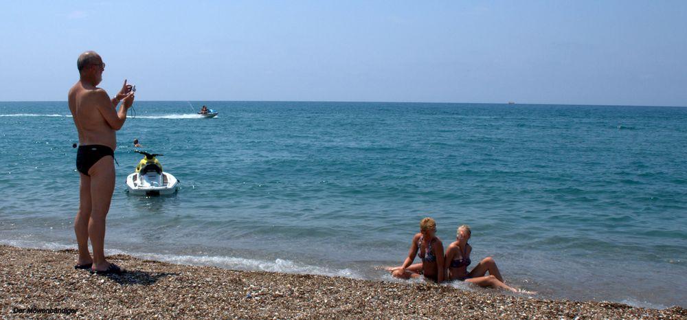 Um unauffällig Strandfotos machen zu können wählte ich die kleine Kamera