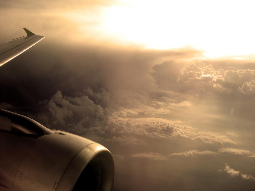 umflogen