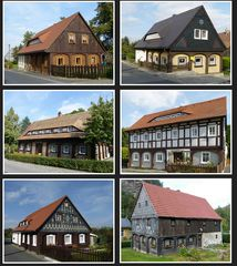 Umgebindehäuser aus Waltersdorf / Oberlausitz