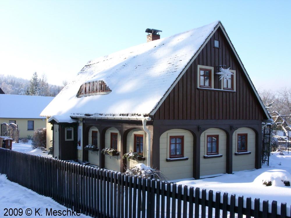 Umgebindehaus im Zittauer Gebirge
