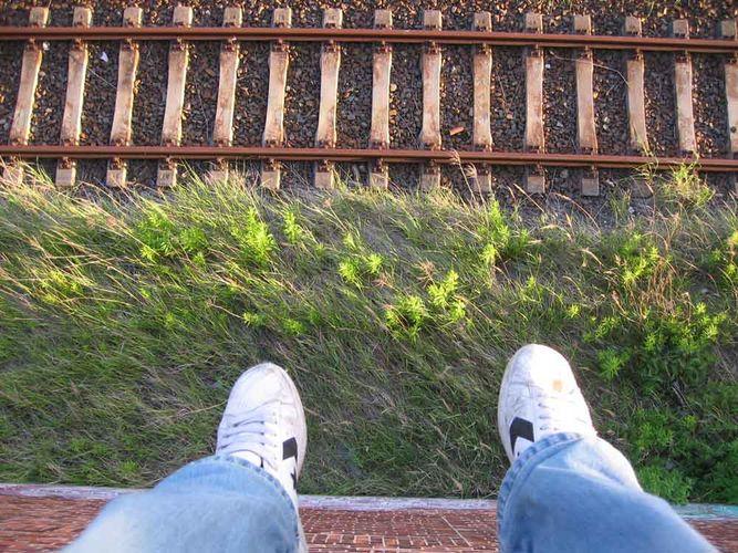 Umstellwerk Leipzig Wahren und meine Schuhe