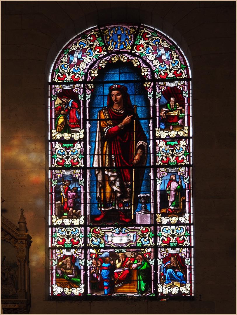 Un autre vitrail de l'Eglise Saint-Nicolas de Nérac