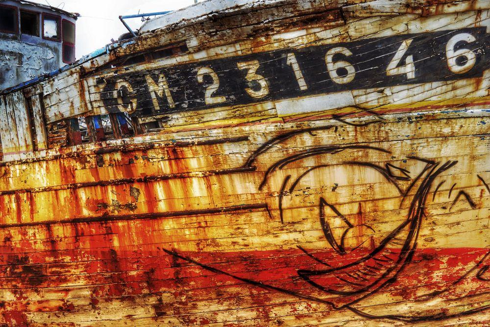 un bateau décédé