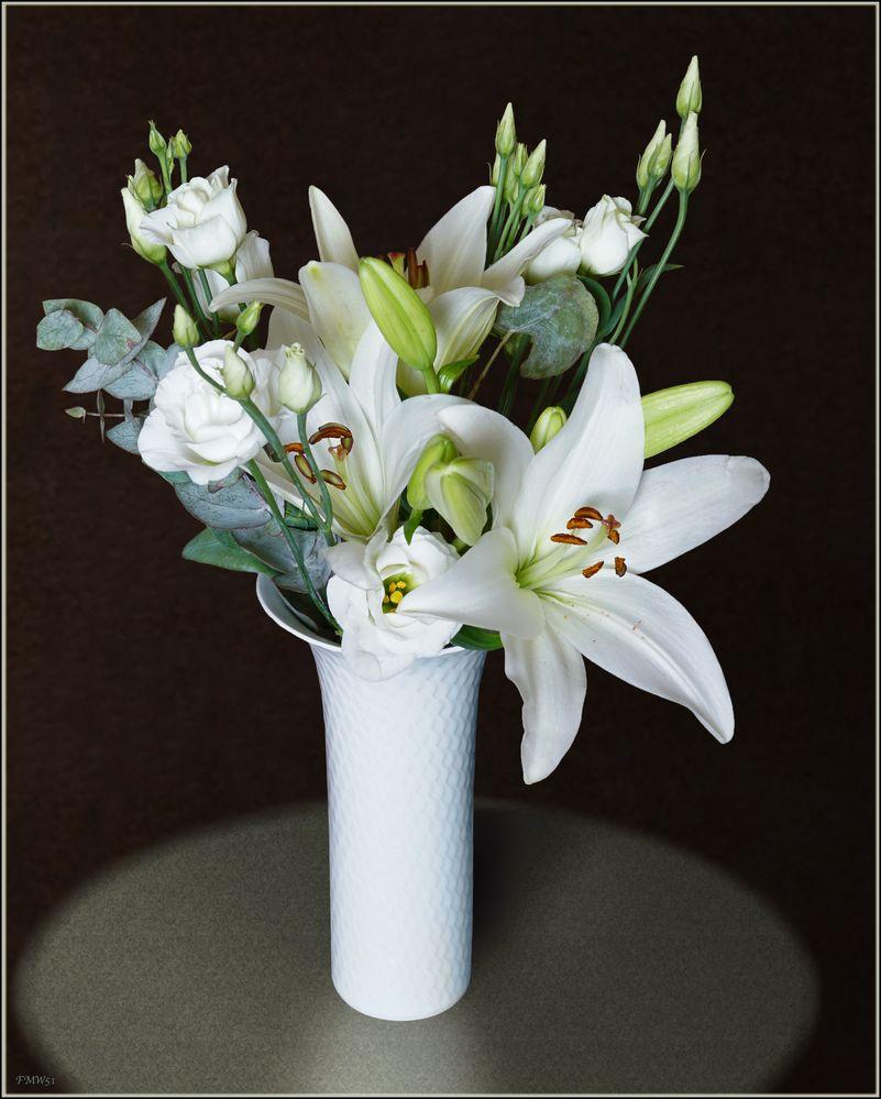 Un bouquet blanc