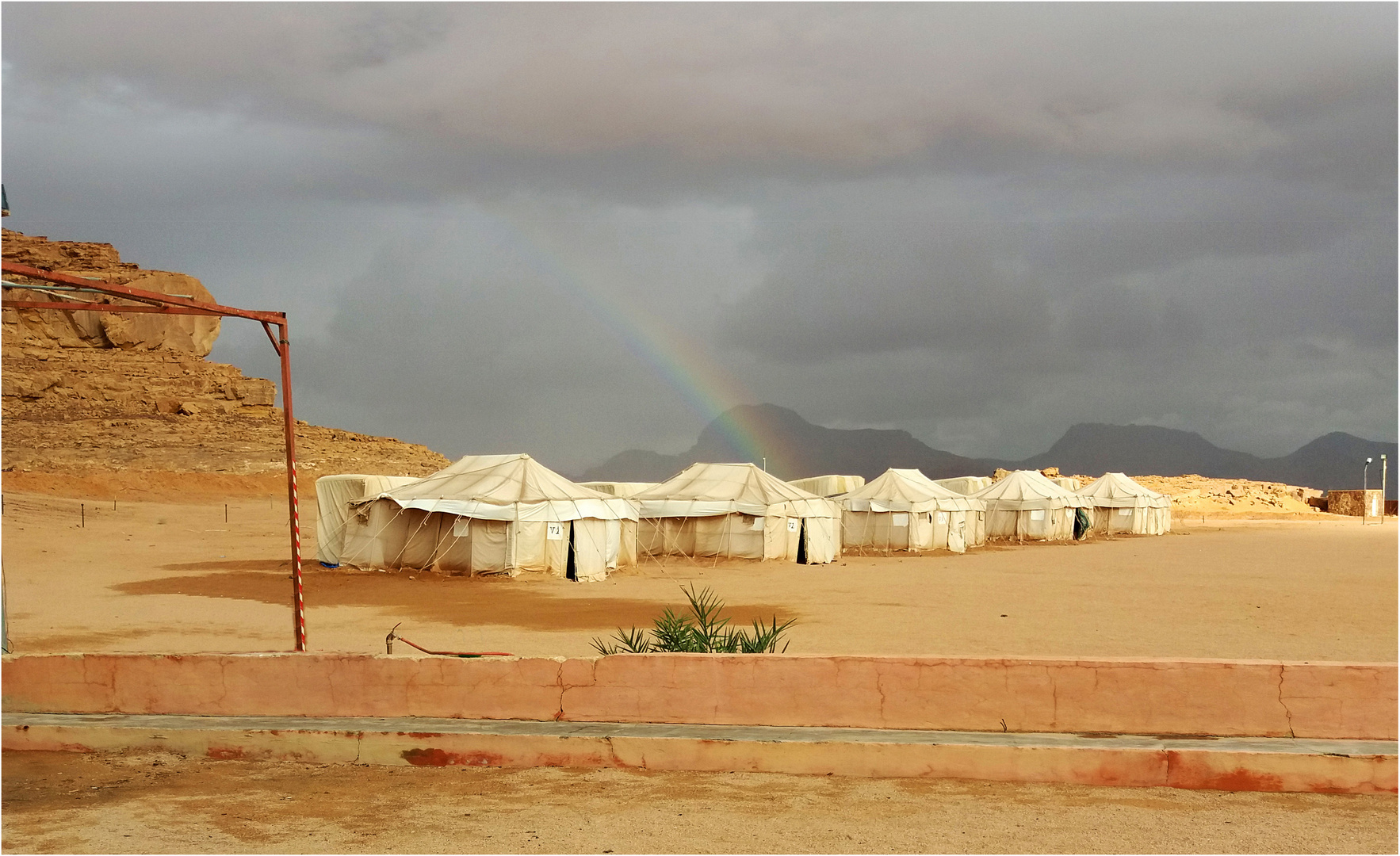 Un campement à Wadi Rum