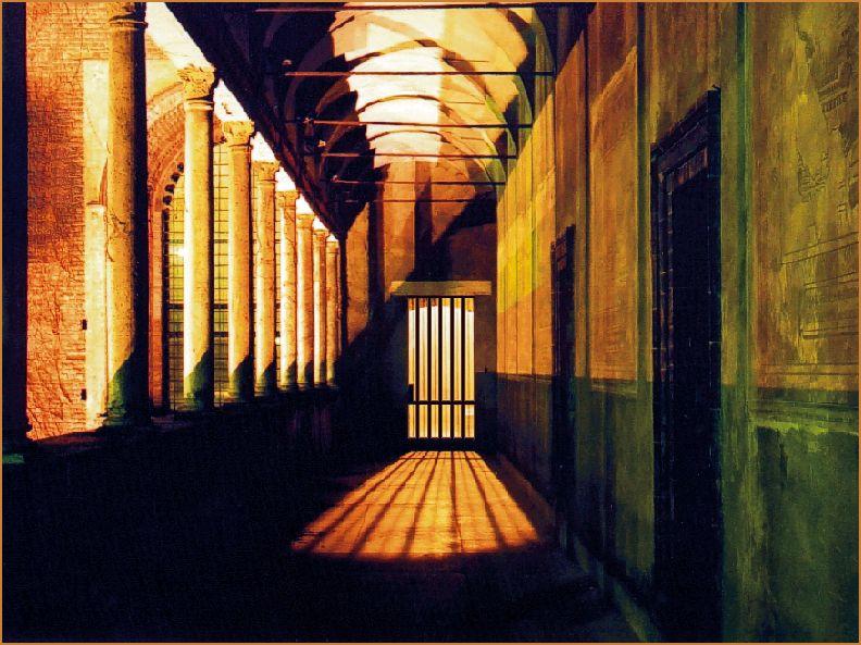 un corridoio del castello