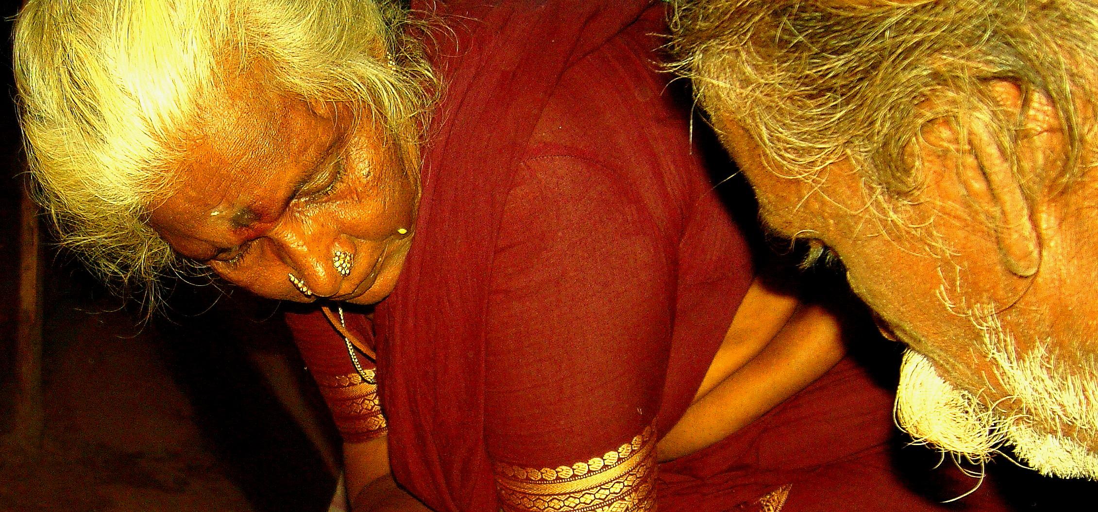 Un couple d'hindous, dans le sud du Tamil Nadu