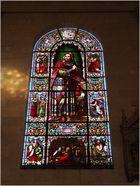 Un des vitraux de l'Eglise Saint-Nicolas de Nérac