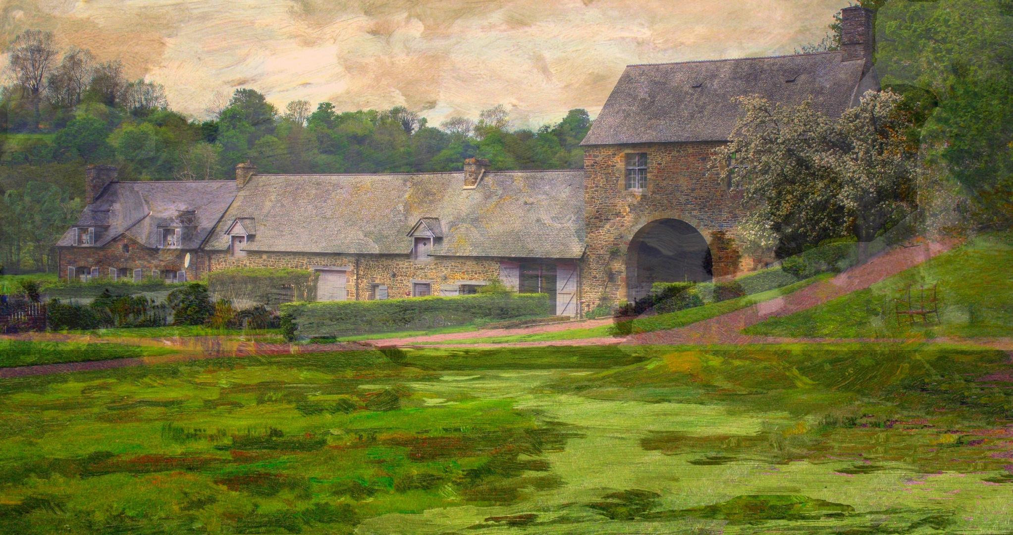 Un hameau dans la Manche