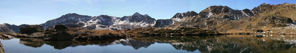 Un lago en las alturas.