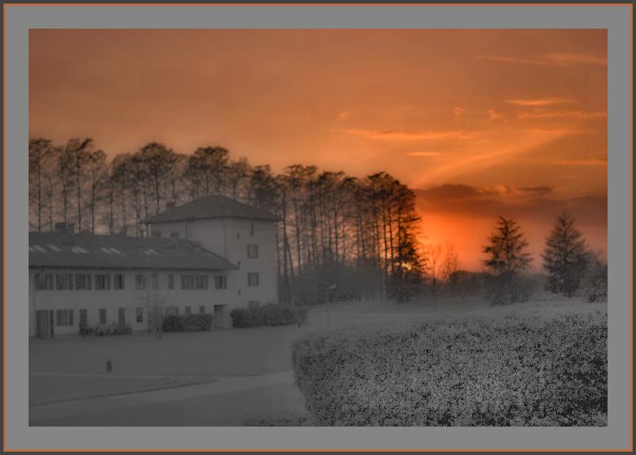Un nebbioso tramonto novembrino