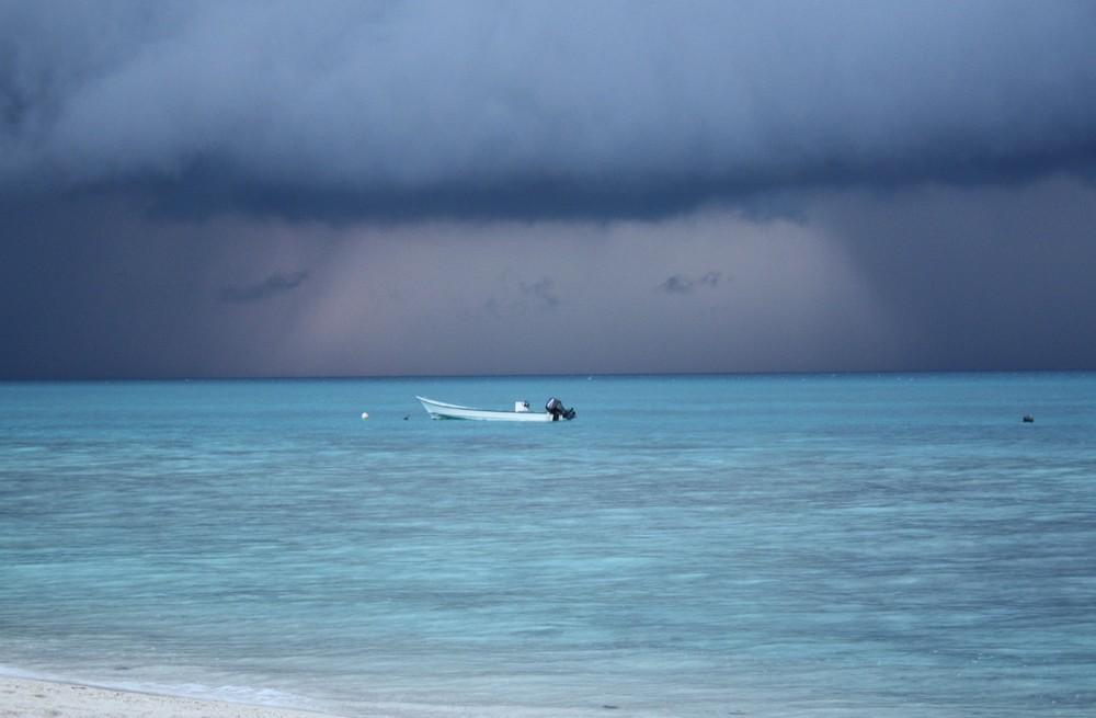 un orage approche