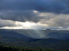 Un rayo de luz en una tarde gris