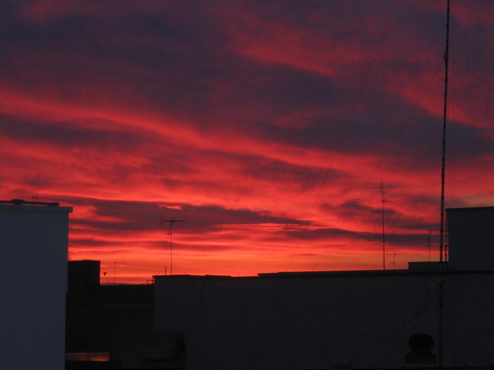 un rosso tramonto