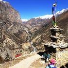 Un stupa dans les Annapurna...