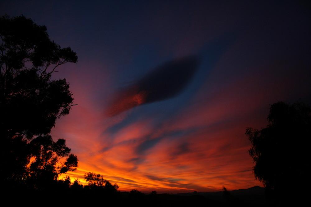 Un tramonto da Caltanissetta (Sicilia)