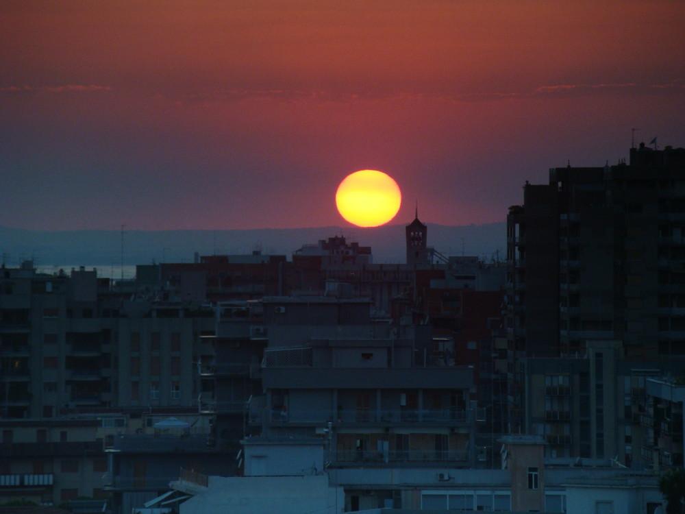 Un tramonto drammatico
