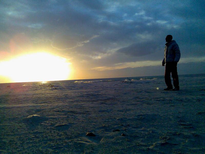 Un tramonto poco orizontale