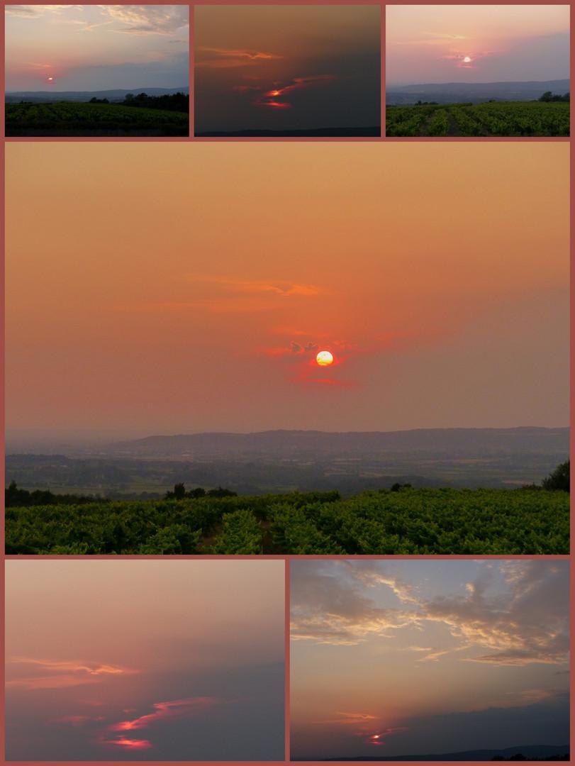 un tramonto tanti scatti