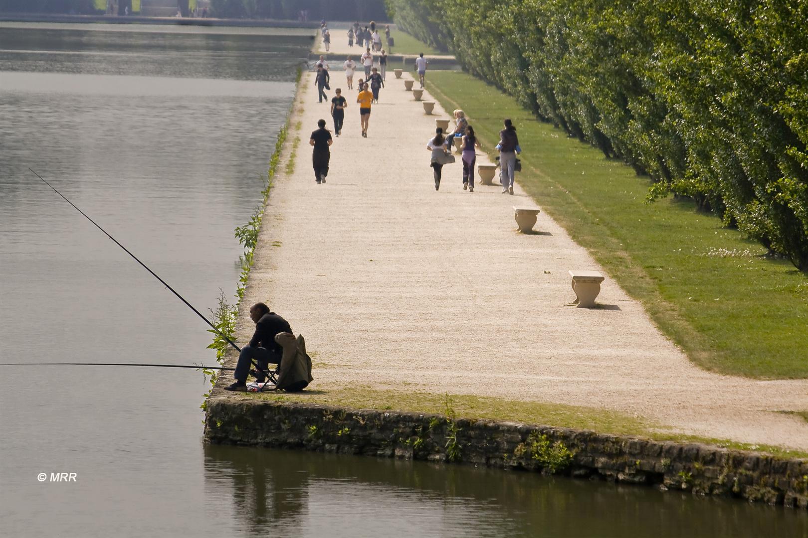 Un tranquilo día de pesca en soledad