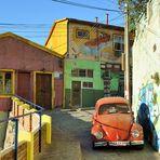 una calle de Valparaiso