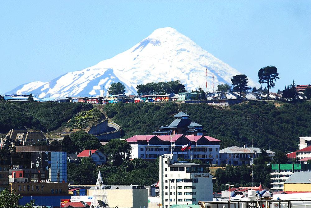 Una ciudad, dos volcanes - el primero en Osorno
