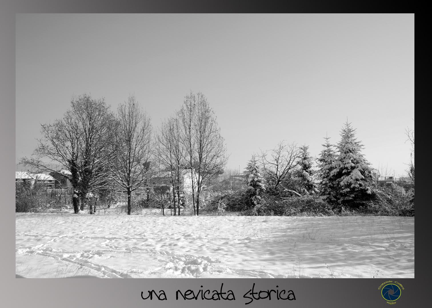 una nevicata storica