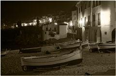 Una nit d'hivern a la platja del Port Bo