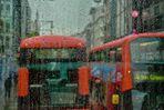 Una tipica giornata di pioggia a Londra