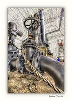 Una válvula de la Central Hidroeléctrica