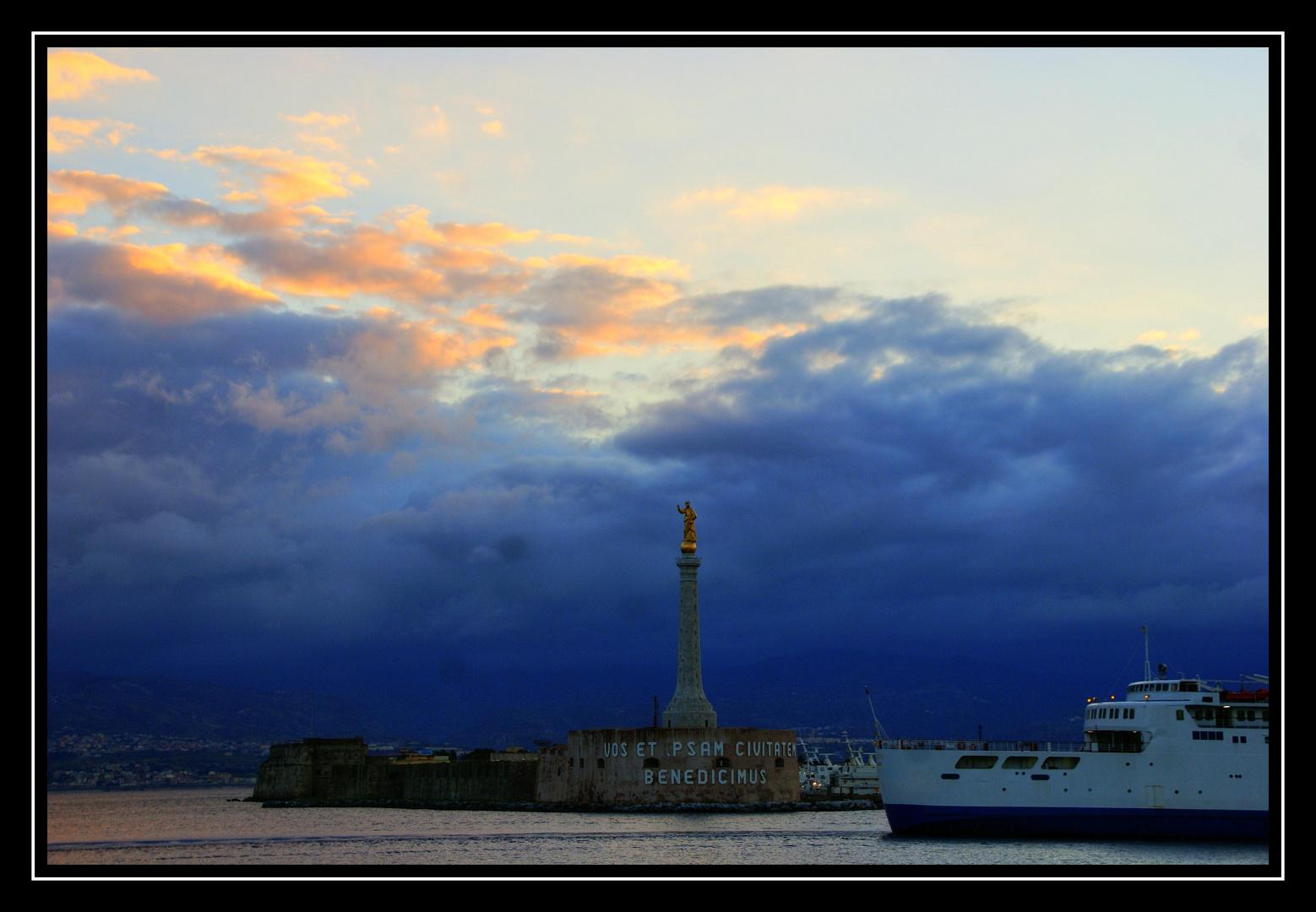 un'altra alba in porto