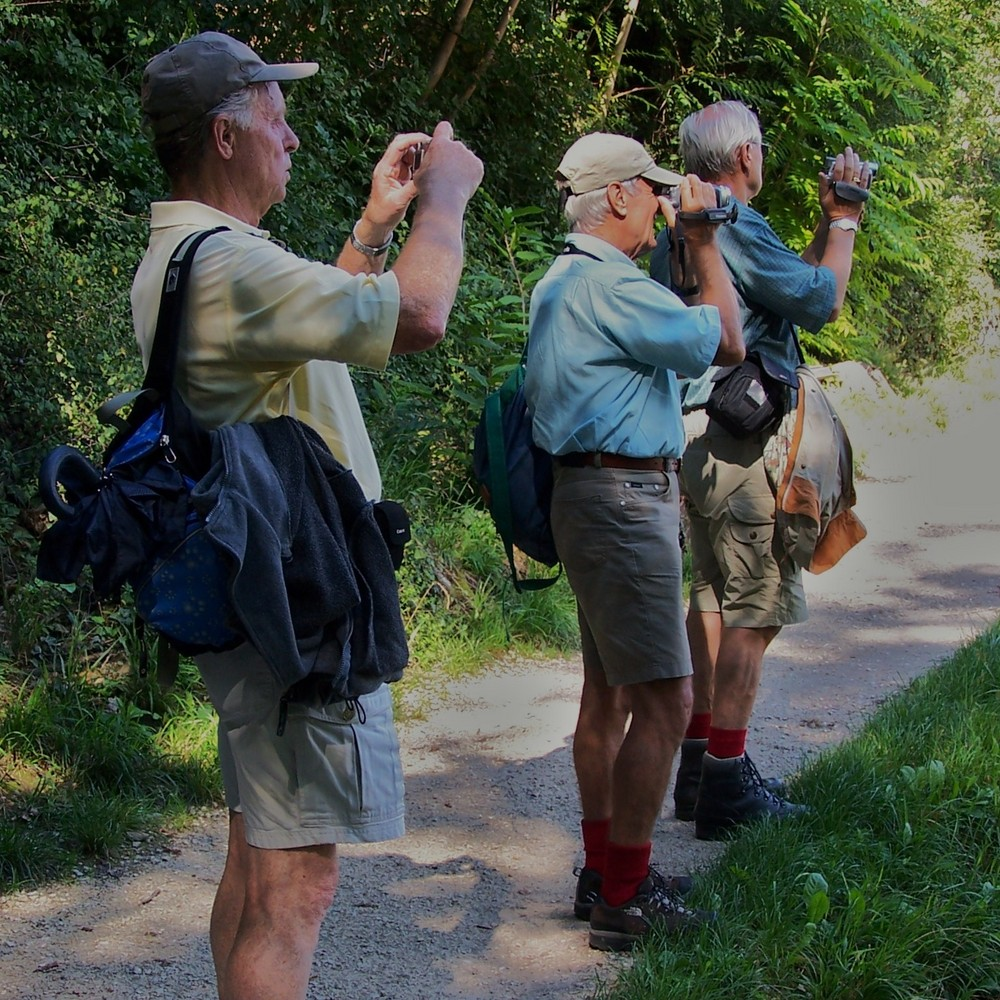 ...und danach tauschen echte Wanderfreunde ihre Bilder aus !