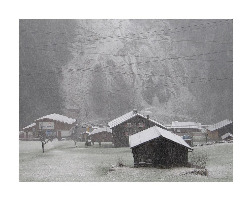 Und dann fing es doch noch an zu schneien ...