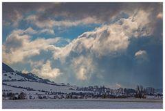...und dann rollte die Schneefront heran...