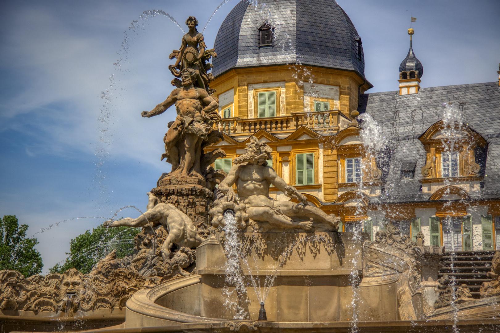 und dann sprudelt es überall (2) - die Wasserspiele von Schloss Seehof