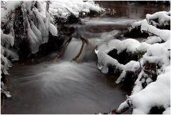 Und das Wasser fließt trotz Frost