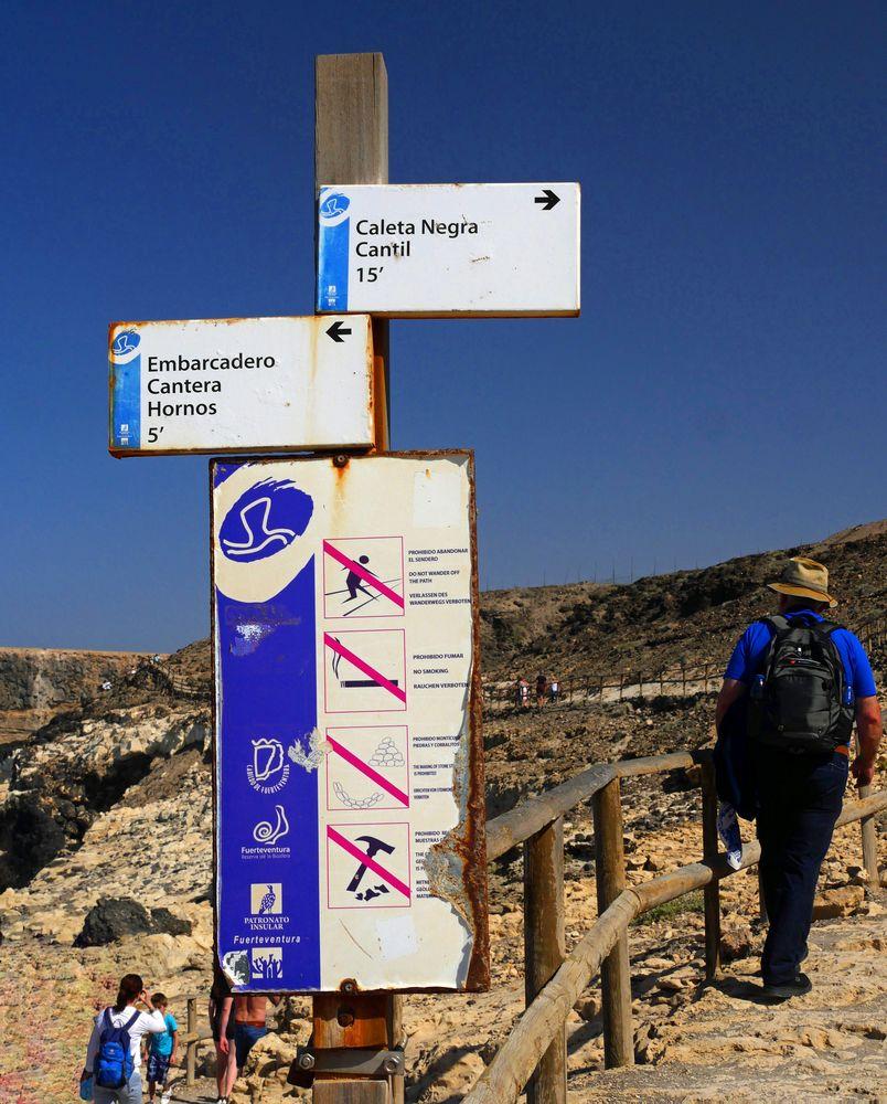 ... und der Weg zu den Höhlen von Ajuy ...