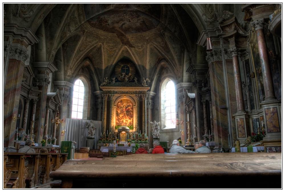 Und die Pfarrkirche in Brixen