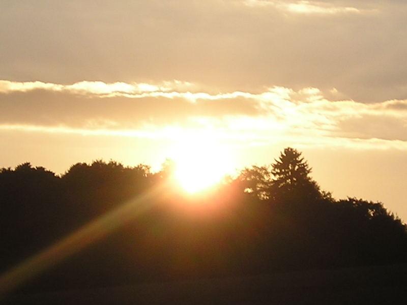 ..... und die Sonne grüßte mich ein letztes Mal..........