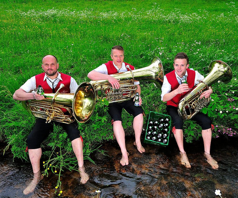 ... und die Tuba bläst der....