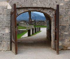 und ein Durchblick... auf der Festung Kufstein.....