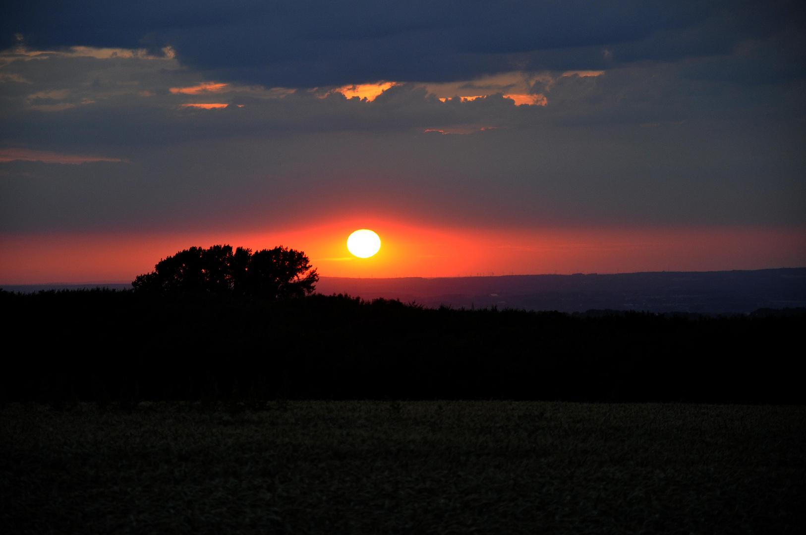 .. und noch éin Sonnenuntergang..