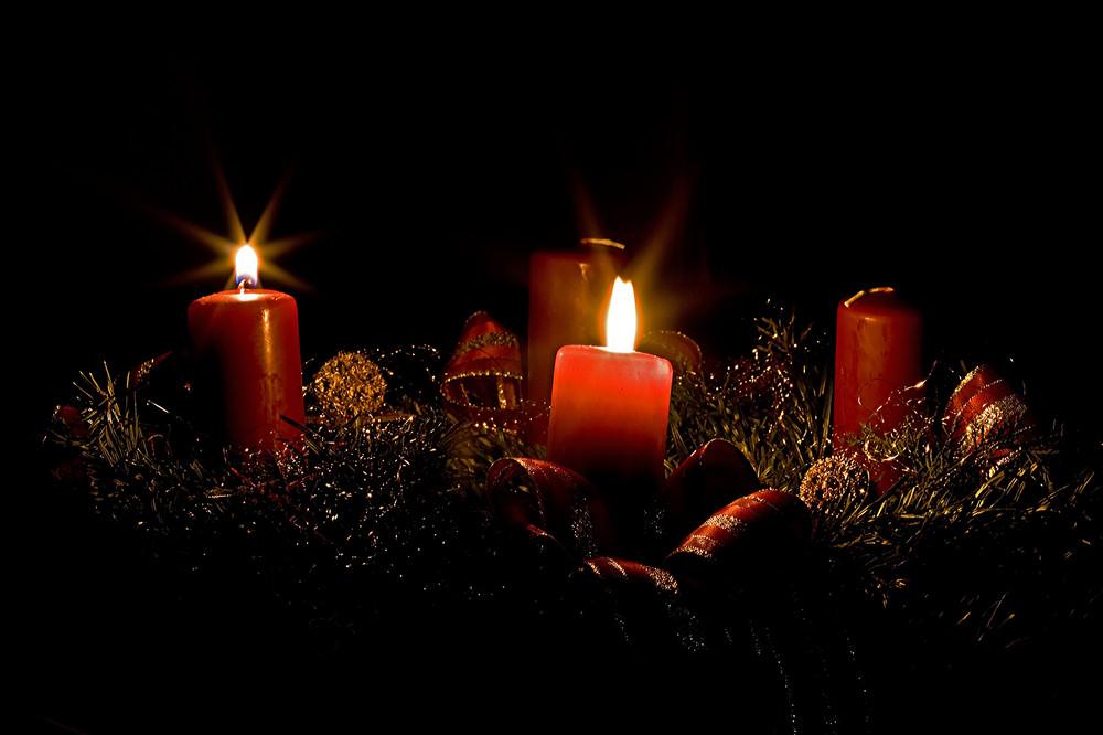 ..und schon brennen 2 Kerzen
